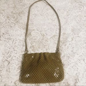 Vtg La Regale tan handmade beaded purse